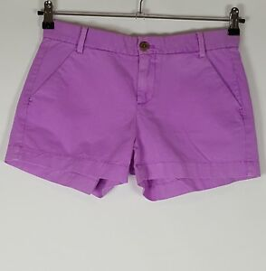 NEW Gap Sz 0 Purple Sunkissed Shorts Womens Flat Front Zip Fly Pockets Khakis by