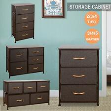 Chest of Fabric Drawers Dresser Furniture 3/4/5 Bins Bedroom Storage Organizer