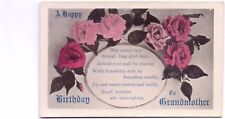 Happy Birthday Grandmother Roses Postmark Portsmouth 1913 To Mrs Kent Southsea