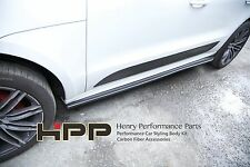 For Porsche Macan Carbon Fiber Side Skirt Extension Spoiler CF