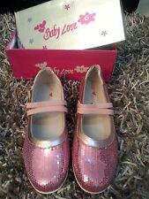 scarpe ragazza bambina ballerine rosa strass n.36 baby love