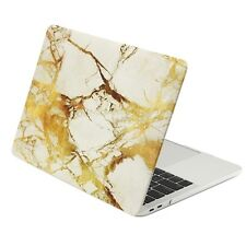 "MARBLE WHITE/GOLD Matte Hard Case for Macbook Pro 13"" A1706 /1708 - RELEASE 2016"