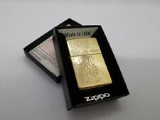NEW 29609 ZIPPO LIGHTER HIGH POLISHED BRASS PAISLEY DESIGN