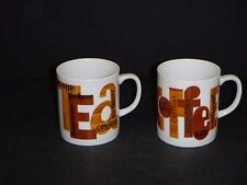 Pr Vtg Gailstyn Mardi Gras Coffee Tea Mugs Modernist Faux Woodgrain Decoration