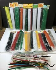 Vintage Chenille Stems Wang's Fibre-Craft Bumpy Pipe Cleaners Large Lot