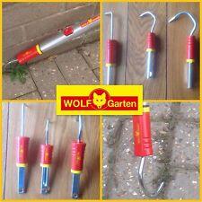 NEW 3 SET WOLF GARTEN TOOL GARDEN WEEDING SCRAPER RAKE 4 MULTI CHANGE HANDLE LOT