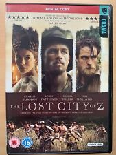 Lost City of Z DVD 2016 Historical Epic w/ Charlie Hunnam Rental Version