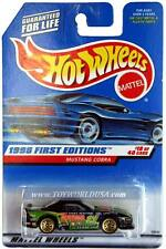 1998 Hot Wheels #665 First Edition #18 Mustang Cobra green w/o cosen tampo