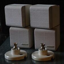 2 Bose Doppel Cube Lifestyle 12 Lautsprecher Boxen weiß mit Orig. Wand Halterung