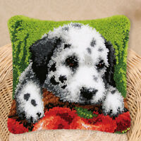 Novelty Dog Pillowcase Latch Hook Rug Kits Embroidery Cushion Cover Crafts