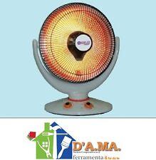 Stufa alogena radiante tonda 1000w sole mio niklas con base oscillante e timer