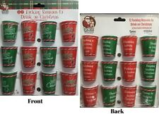 12 F*cking Reasons To Drink On Christmas 12 piece Shot Glass Set NEW