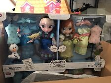 "WDW DISNEY ANIMATORS' FROZEN COLLECTION ANNA AND ELSA DELUXE GIFT SET 16"" NEW"