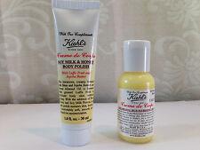 New Kiehl's Body Care Set Soy Milk & Honey Body Polish + Rich Nourishing Cream