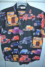 Elaine's Custom Shirts Canada Mens Large Colorful Classic Hot Rods on Black/Nice