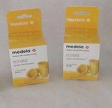 Medela Sonata Spare Membranes Silicone Lot 2 Boxes Breast Pump 68055 NEW