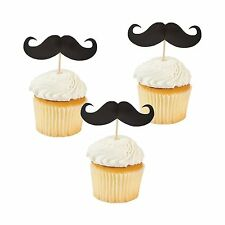 Party Supplies - Set of 25 Mustache Food and Cupcake Party Picks