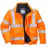 Portwest Hi-Vis Bomber Jacket Orange Reflective Coat Waterproof ANSI URT32