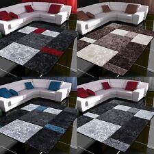 Moderner Design Konturschnitt Teppich Kariert Wohnzimmer ver. Farben u. Größen
