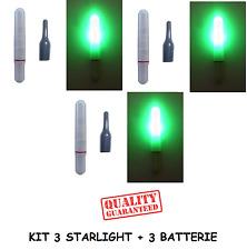 kit 3 starlight led elettronico galleggiante pesca luce galleggianti batteria