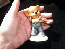 VINTAGE CUTE KOALA BEAR IN DUNGAREES FIGURINE PLAYING THE VIOLIN 3.5""