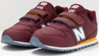 NEW BALANCE SNEAKERS JUNIOR YV500RBB BORDEAUX CON STRAPPO fino al 40