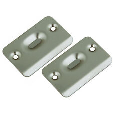 National N287049 Satin Nickel Ball Catch Strike Plates with Screws (1 pair)
