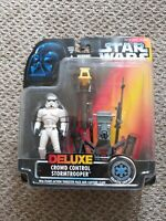 Kenner Star Wars Power Of The Force Deluxe Crowd Control Stormtrooper Action New