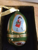 Mr. Christmas Musical Egg Collectible Valerie Parr Hill Ornament Original Box