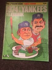 N,Y,Yankees 1974 Official Yearbook Good Condition