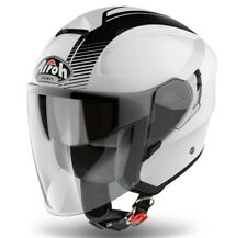 CASCO HELMET MOTO JET FIBRA AIROH HUNTER SIMPLE WHITE BLACK BIANCO TG XXXL