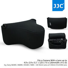 JJC Black Light Camera Pouch Case Bag for Sony A6300+18-55mm Canon M10+55-200mm