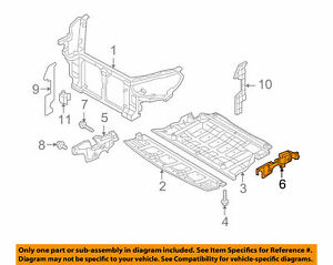 HYUNDAI Fits 10-15 Genesis Coupe Radiator Core Support Side Cover LH 291303M501