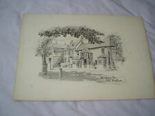 Sketch of Old Southgate - The Cherry Tree  -  on board by Jeff Cook 1946