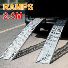 2x2.3M 680KG Aluminium Folding Loading Ramp Motorbike Motorcycle Scooter Trailer