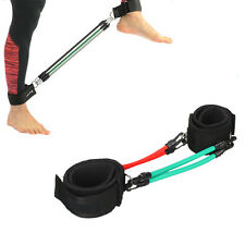 4PCS Leg Fitness Exercise Natural Latex Tube Resistance Band Ankle Strap Traing