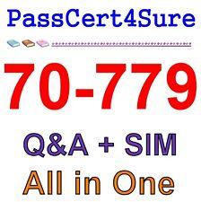 Best Exam Practice Material for 70-779 Exam Q&A PDF+SIM