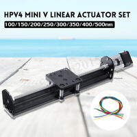 HPV4 Linear Guide V Linear Actuator 100-500mm Module 17HS3401S Stepper Motor