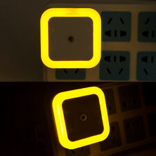 yellow EU Plug Auto LED Light Induction Sensor Control Lamp Night Light Bedroom