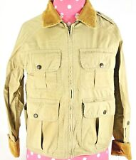 New Polo Ralph Lauren Double Rl Women's 1 Brown Corduroy Hunt Shooting Jacket