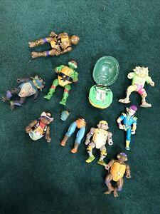 Vtg Teenage Mutant Ninja Turtles Playmates Figures Lot - 80's & 90's PARTS LOT