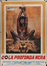 BLACK DEEP THROAT Italian 2F movie poster 39x55 SEXPLOITATION AJITA WILSON 1976