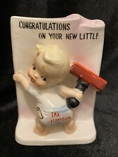 """Vintage Ucago Baby Planter """"Congratulations On Your New Little Tax Exemption�"""