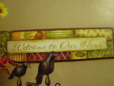 Welcome to our home Plaque new Vintage Home Interiors & Gifts