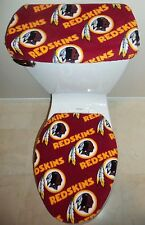 NFL WASHINGTON REDSKINS Fleece Fabric Toilet Seat Cover Set Bathroom Accessories