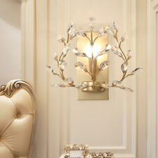 LED Golden Crystal Aisle Wall Lamp Lighting Bedroom Lights Wall Sconce Fixtures