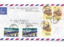 CF219 1976 Kenya *MACHAKOS* MISSIONARY Air Cover MIVA Austria SEA SHELLS