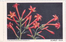 1961 National Wildlife Federation Conservation Stamp Scarlet Gilia MNH