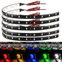 2pcs 30CM Flexible 15 LED SMD Strips 5050 Bright Lights 12V For Cars Trucks Boat