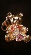 Swarovski Charm Pendant Teddy Bear